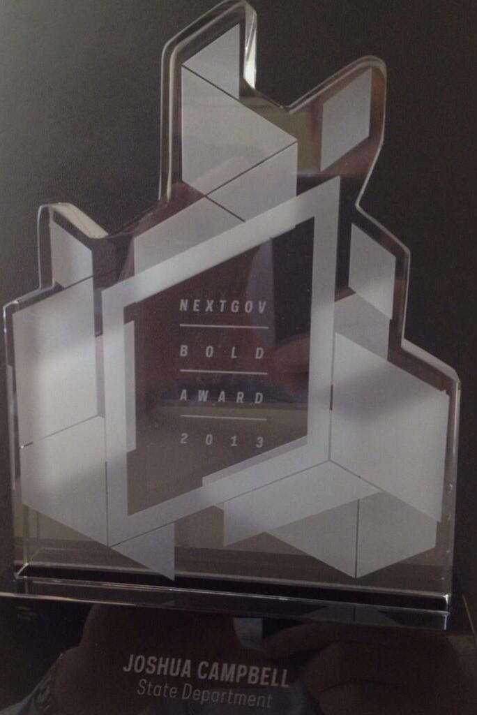 NextGov Bold Award 2013