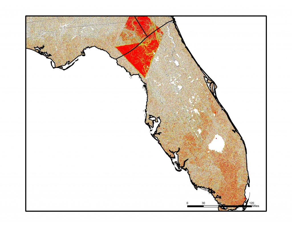 Map displays the Flat Index over Florida